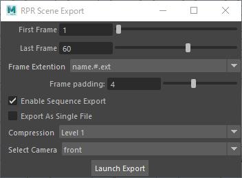 RPR Scene Export