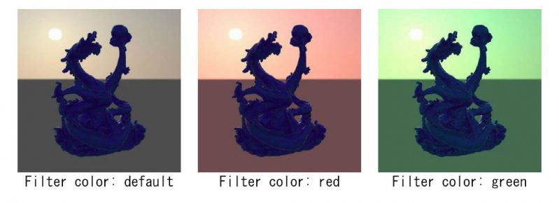 Filter Color/ フィルターカラーの調整