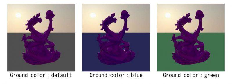 Ground Color/ 地表カラーの調整