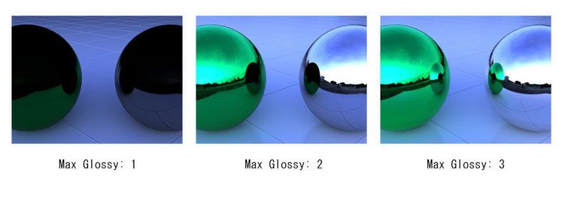 Max Glossy/ 最大光沢の調整