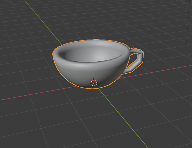 3DCGのカップ
