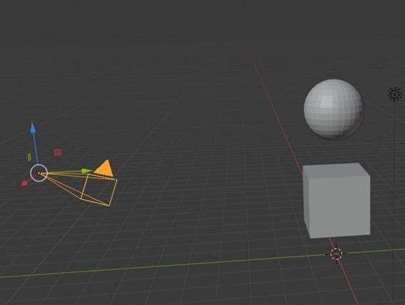 四角すい状のオブジェクト